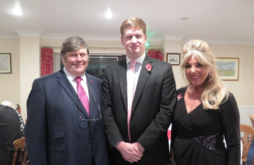 Tony Hills, Matthew Scott and County Councillor Carole Waters