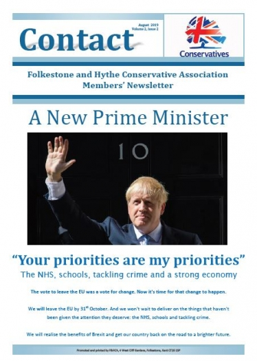 Contact August 2019 Front Page